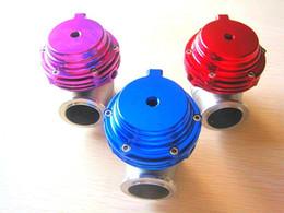 Großhandel Neue Turbo Wastegate Abfalltor Wassergekühlte externe Turbo Rot / Blau / Schwarz / Purpur mit Flansch- und Hardware-Abfallgatter (7-9 psi)