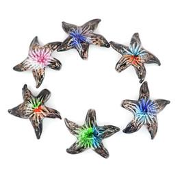 $enCountryForm.capitalKeyWord Australia - Starfish Lampwork Glass Pendant For Necklace Making Diy Lampwork Glass Pendant Manufacturer Supply 51*51*12.1mm MC0056