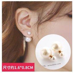 Ingrosso 2017 nuovi orecchini coreani temperamento semplice personalità dolce perla orecchini femminili gioielli orecchini Giappone e Corea del sud