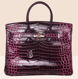 Discount leopard print wallet genuine leather - crocodile bag tote shoulder bride wendding bags purse clutch flap women wallet handbag tote lady UK France DE genuine le