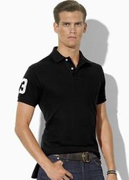 $enCountryForm.capitalKeyWord Australia - Buy High Quality Men's Classic Polo Shirts Club Number 3 Big Pony Embroidery Solid Polos for Boys Sport Tees White Black Sky Blue
