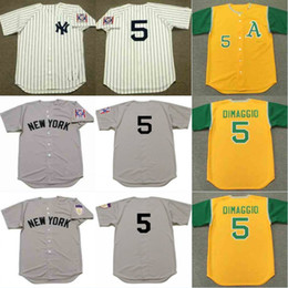 d5f42514d ... 5 Joe Dimaggio Throwback Baseball Jerseys Oakland Athletics 1969 New  York Yankees 1939 1951 Cooperstown Jersey ...