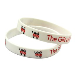 $enCountryForm.capitalKeyWord Canada - Hot Sell 1PC Printed Logo The Gift of Hope Happens Here Silicone Bracelet Wristband Adult Size