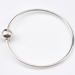 silver balls bracelet 925 NZ - EDELL 100% 925 Sterling Silver bracelet Ball Clasp Suitable Essence Collection Bracelet Bangle Fit Women Bead Charm DIY Jewelry