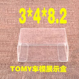 Emballage De Boîtes À Gâteaux De Mariage Pas Cher-100PCS 8.2x4x3 CM Clear PVC Toy Car TOMY Display Candy Boxes Wedding Favor Box Baby Shower Douche nuptiale Doux Cadeau Emballage Boîtes