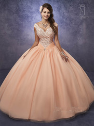 e123b0fd30 Vestidos Quinceanera Color Melon Canada - Shimmering Tulle Quinceanera  Dresses 2017 Mary s with Cape and Portrait