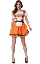 Oktoberfest Halloween Costumes Canada - 2017 New Arrival Oktoberfest Beer Lovers Suit 10Pcs Lot Sexy Cosplay Halloween Costumes Uniform Temptation Club Party Clothing Hot Selling