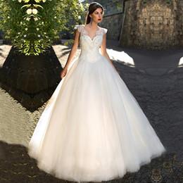 Vintage Wedding Dress White Ivory Lace Princess 2017 Luxury Beading Ball Gown Dresses Big Train Bridal Backless