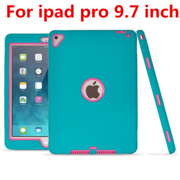 tablet inch back 2019 - New 3 in 1 Extreme Defender Shockproof Cover Hybrid Armor Robot Case Silicon + PC For Ipad Pro 9.7 inch Tablet PC Protec