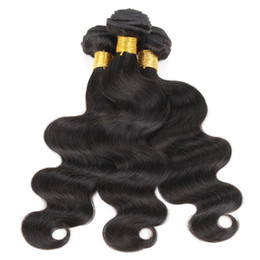 Chinese  3 Bundles Brazilian Body Wave Hair Weave Cheap Color 1B Black Raw Virgin Indian Malaysian Peruvian Cambodian Chinese Human Hair Weft manufacturers