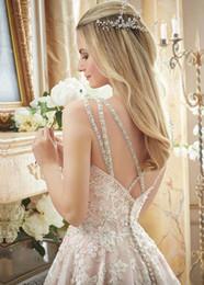 $enCountryForm.capitalKeyWord NZ - Gorgeous Aline Wedding Dress Embroidery Vintage Style Bridal Dress With Straps Sequined Wedding Dresses Sexy Best Bridal Dress+ Free Veils