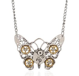 Wholesale Retro jewelry Steampunk Experience steam punk fashion personality Necklace Butterfly Owl honeybee Heart