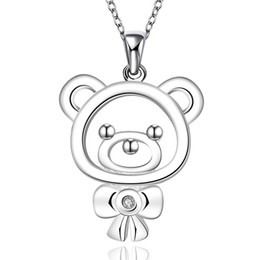 $enCountryForm.capitalKeyWord Canada - New Arrival Animal Necklaces Cute Bear&Bow Pendant Necklace Women Girl Accessories Fashion Mini Jewelry Sweet Style Romantic Statement Chain