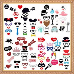 photo funny prop Australia - New Wedding Decoration Photo Booth Props Funny Glasses Mustache Birthday Party Supplies Photobooth 22 27 31Pcs