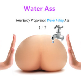 Pussy real men toys online shopping - Solo Flesh Sex Doll Male Masturbactor Injecting Warm Water Filling Inflatable Silicone Realistic Pussy Real Body Temperature Big Ass Toy