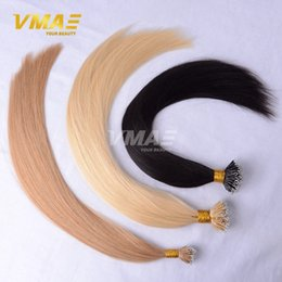 Wholesale Nano Nail Tip Hair Extensions Brazilian Straight Hair Human Hairpiece Extensions Straight Queen Remy Straight Virgin Hair VMAE Hairpiece