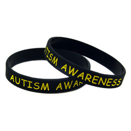 Wholesale jelly online shopping - Autism Awareness Silicone Wristband Great For Daily Reminder By Wearing This Colourful Bracelet