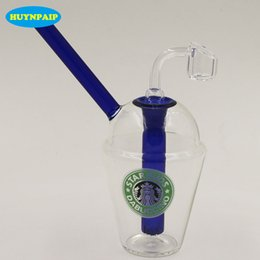 $enCountryForm.capitalKeyWord UK - New Arrival Glass Bong Starbucks Cup Oil Rig Glass Water Pipes 14.4mm Joint quartz banger nail colour carb cap