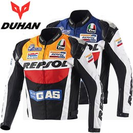 D Vêtements Orange Pas Cher-DUHAN moto vêtements D-VS03 moto racing costumes Oxford tissu moto cavaliers REPSOL veste Alliage métal protection épaule