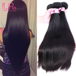 cheap 16 inch human hair weave 2021 - IUPin Unprocessed Malaysian Hair Cheap Bundles 24 Inch Human Hair 4 Bundles Lot Malaysian Hair Weaves Virgin Straight 8&