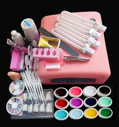 Lámparas De Uñas Uv Pro Baratos-kit New Pro 36W UV White Lamp 12 Color UV Art Tools Sets Kits uñas uñas