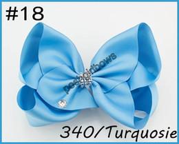 Cheerleader Hair Canada - free shipping 300pcs 8''rhonestone hair bows big Signature Hair Bow Dance Cheerleader Pageant Bows