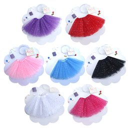Red White Blue Tutus UK - 7 Color Girls INS TUTU lace petti skirt 2017 New summer lace Stars decoration skirt kids dress Straight short skirts 3~10years B001