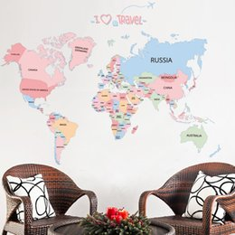 Kids World Map Sticker Online Kids World Map Sticker For Sale - Kids world map wall decal