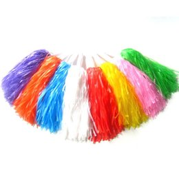 Wholesale Pair Cheering pompom Flower Cheerleaders Took Ball Bouquet Cheerleaders Hand Flowers Rings and Plastic Handles for Sports Match