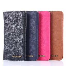 iphone leather wallet case for men NZ - General Wallet Case For iPhone 7 6 6s Plus 4s 5s 5c SE Samsung Galaxy S7 S6 Edge S5 S4 S3 S2 E5 E7 Cover man Handbags