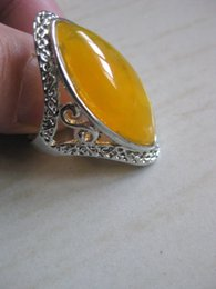 $enCountryForm.capitalKeyWord Canada - NEW GUIZHOU miao silver inlay yellow amber Rings Wholesale and retail amber ring free shipping