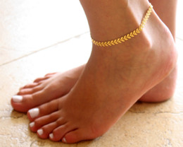 $enCountryForm.capitalKeyWord Canada - Summer Boho Fishbone Chain Anklets Fashion Ankle for women Foot Jewelry Body Jewelry For Women Gifts