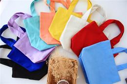 $enCountryForm.capitalKeyWord Canada - 20pcs lot 2017 Newest White DIY women Cotton Canvas Open lunch Handbag storage bag shoe case Outdoor