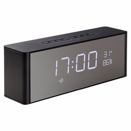 $enCountryForm.capitalKeyWord Canada - Mini Bluetooth Speaker Wireless Portable Subwoofers with Desktop Alarm Clock Time Display Stereo Dual Speaker Handsfree Soundbar