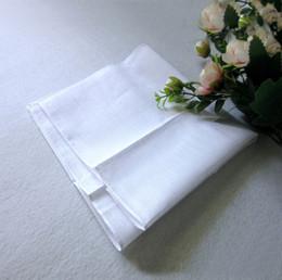 Pañuelo blanco al por mayor, pañuelo blanco puro, cuadrado pequeño del color puro, toalla del sudor del algodón, pañuelo llano, envío libre