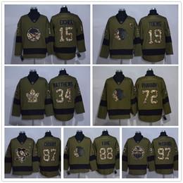 stitched nhl jersey 2016 salute to service hockey 15 jack eichel 4 auston matthews 87 sidney crosby