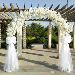 Discount long arch wholesale 2018 long arch wholesale on sale at 1 meter long artificial simulation cherry blossom flower bouquet wedding arch decoration garland home decor supplies junglespirit Image collections
