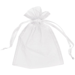 China 200Pcs White Organza Bags Gift Pouch Wedding Favor Bag 13cm X18 cm (5x7 inch) 11 colors Ivory   gold   blue cheap sky moving suppliers