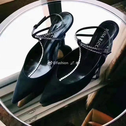 sexy t strap wedding shoes Canada - 2017 Brand Suede Leather Kitten Heels Ladies Wedding Party Shoes Sexy Pointed toe T tied Crystal Womens Summer Gladiators Evening Party Shoe