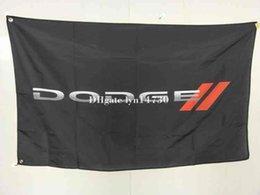 Flag Car Logo Canada - 100% polyster dodge new logo black flag for car,dodgebanner, 90X150CM size car logo flag