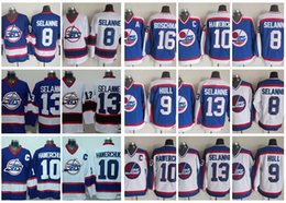 4af645c5215 Vintage Winnipeg Jets Hockey Jerseys 13 Teemu Selanne 10 Dale Hawerchuk 9  Bobby Hull 16 Laurie Boschman Vintage CCM 8 Selanne Jersey