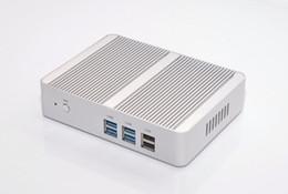 $enCountryForm.capitalKeyWord UK - Freeshipping New Intel Fanless Mini PC Celeron N3150 N3050 Quad Core 1.6~2.08GHz Windows 10 Mini PC Computer Dual HDMI WiFi Dual LAN T V Box