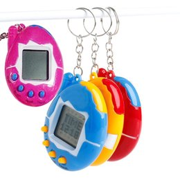 Discount games for kids - New Hot Mixed colors Tamagotchi Toys with button cell Retro Game Virtual Pets electronic toy for kids christmas party gi