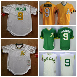 best sneakers 6db23 6062f mlb jerseys oakland athletics 9 reggie jackson 1968 home ...