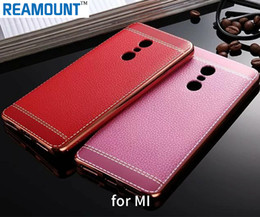 silver black red Australia - Luxury Litchi Leather Patten TPU Ultra Thin Mobile Phone Case Cover for red mi note2 note 3 note 4 for redmi pro Case Cover