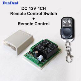 $enCountryForm.capitalKeyWord NZ - Wholesale- 433Mhz Universal DC 12V 4CH Wireless Remote Control Switch Diy Relay Receiver Module and RF Transmitter 433 Mhz Remote Controls
