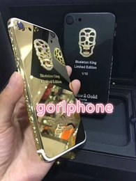 house plates Australia - Real Gold skeletonPlating Back Housing Cover Skin Battery Door For iPhone 7 7+ Luxury Gold Plating Chromed Frame Clear Mobile Phone Case