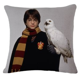 $enCountryForm.capitalKeyWord UK - Popular Movie Harry Potter Pillow Case 45*45cm Linen Throw Pillow Cushion Cover for Chair Sofa Car Home Decoration Textile Gifts