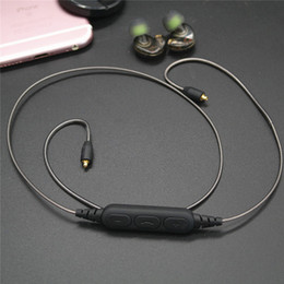Ingrosso OKCSC DD4C Bluetooth 5.0 Cavo MMCX con microfono per shure Cuffie SE215 SE535 SE315 Auricolari MMCX Connettori Cavo audio