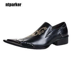 $enCountryForm.capitalKeyWord Canada - Japanese Type man shoes elegant Pointed Metal Toe Business Leather Dress Shoes, Man's Business Party Wedding Shoes, EU38-46!